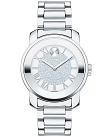Movado Women's Swiss Bold Stainless Steel Bracelet Watch 32mm 3600254