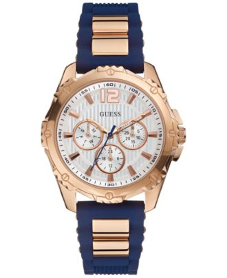 guess s navy silicone 42mm u0325l8