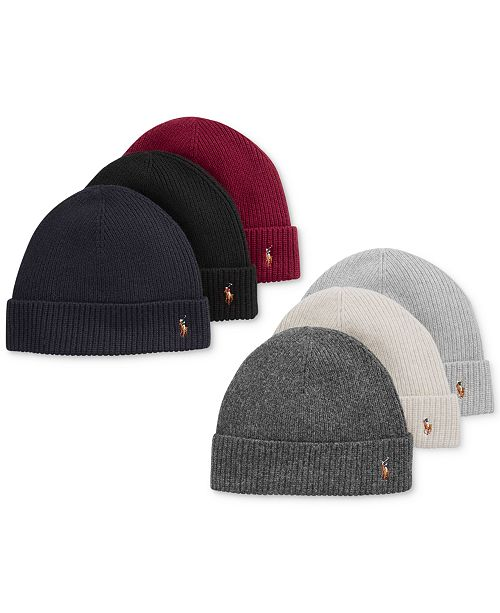 07277ae74 Polo Ralph Lauren Signature Merino Cuff Hat & Reviews - Hats, Gloves ...
