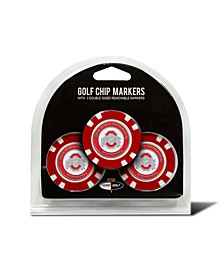 Ohio State Buckeyes 3-Pack Poker Chip Golf Markers