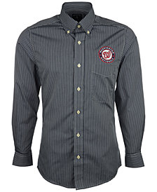 Antigua Men's Long-Sleeve Washington Nationals Button-Down Shirt