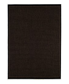 CLOSEOUT! Recife Saddle Stitch Black/Cocoa Indoor/Outdoor Rug