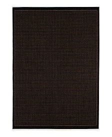 "CLOSEOUT! Couristan Area Rug, Recife Indoor/Outdoor Saddle Stitch/Black-Cocoa 1001/2000 2'3"" x 7'10"" Runner"