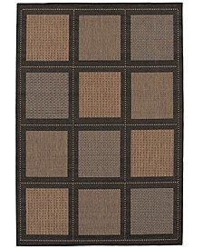 "CLOSEOUT! Recife Summit Cocoa/Black 3'9"" x 5'5"" Indoor/Outdoor Area Rug"