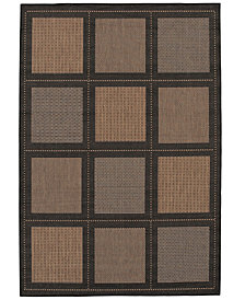 "CLOSEOUT! Couristan Area Rug, Recife Indoor/Outdoor Summit/Cocoa-Black 1043/2500 2'3"" x 11'9"" Runner"