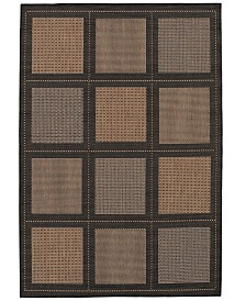 "CLOSEOUT! Couristan Area Rug, Recife Indoor/Outdoor Summit/Cocoa-Black 1043/2500 3'9"" x 5'5"""