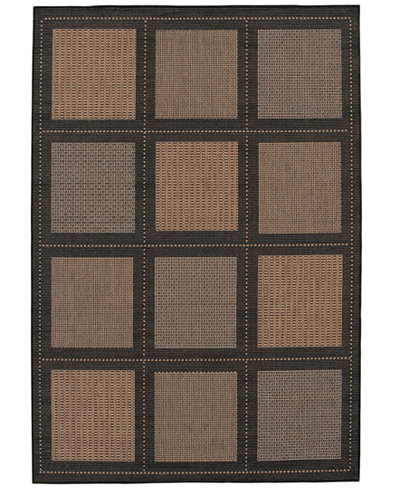 CLOSEOUT! Couristan Area Rug, Recife Indoor/Outdoor Summit/Cocoa-Black 1043/2500 5'3