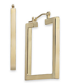 Square Hoop Earrings in 14k Gold
