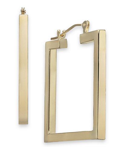 Square Hoop Earrings in 14k Gold