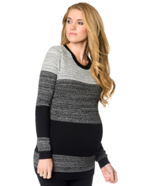 A Pea In The Pod Maternity Colorblocked Sweater plus size,  plus size fashion plus size appare