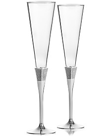 Waterford Lismore Diamond Toasting Flute Pair