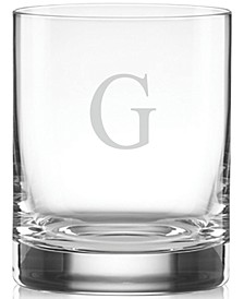Tuscany Monogram Double Old Fashioned Glasses, Set of 4, Block Letters