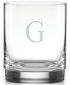 Lenox Tuscany Monogram Double Old Fashioned Glasses, Set of 4, Block Letters