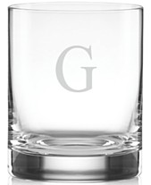 882049d2f83 Lenox Tuscany Monogram Double Old Fashioned Glasses