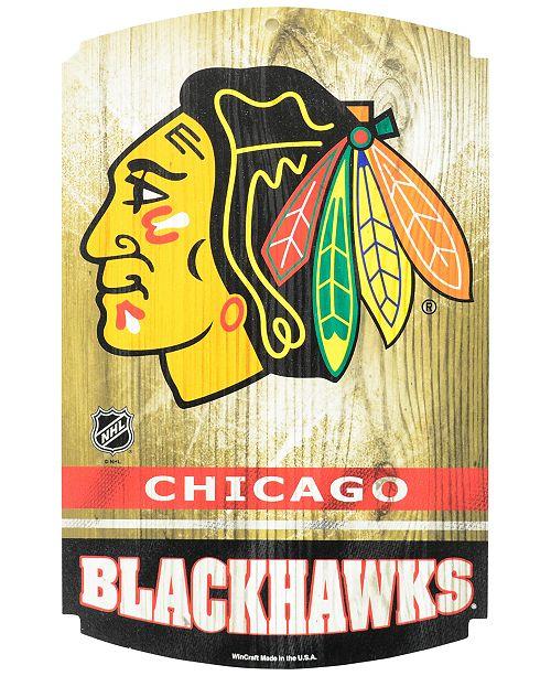 Wincraft Chicago Blackhawks Wood Sign