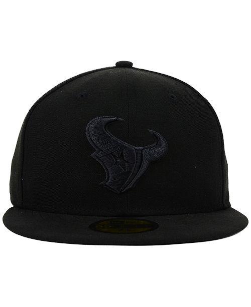 wholesale dealer 0879c e1cf3 ... New Era Houston Texans NFL Black on Black 59FIFTY Fitted Cap ...