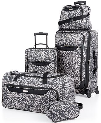 Tag Springfield III Print 5 Piece Luggage Set, Only at Macy's