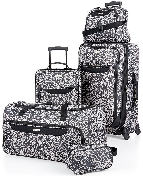 Tag Springfield III Print 5 Piece Luggage Set, Created for Macy's