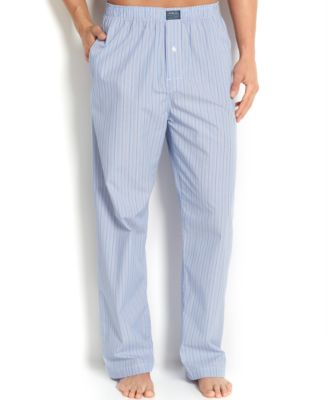 Big and Tall Blue Classic Andrew Stripe Cotton Men's Pajama Pants