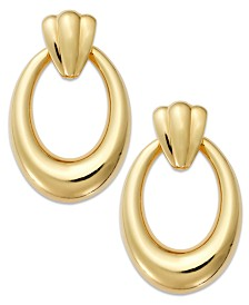 Signature Gold™ Oval Hoop Earrings in 14k Gold over Resin