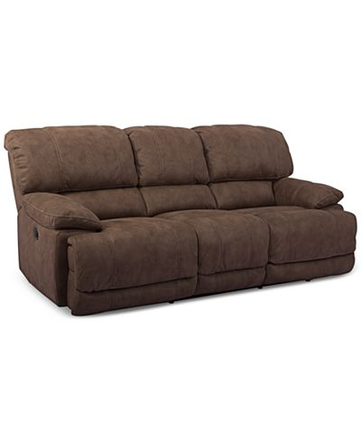 Jedd Fabric Dual Power Reclining Sofa Furniture Macy S