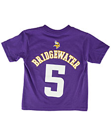 Outerstuff Toddlers' Short-Sleeve Teddy Bridgewater Minnesota Vikings Player T-Shirt