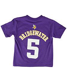 Outerstuff Toddlers' Short-Sleeve Teddy Bridgewater Minnesota Vikings Player T-Shirt
