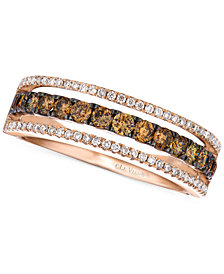 Le Vian Chocolate and White Diamond Channel Band in 14k Rose gold (5/8 ct. t.w.)
