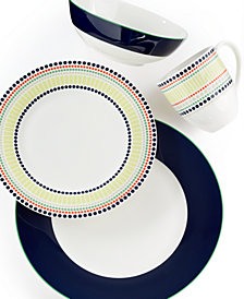 kate spade new york Dinnerware, Hopscotch Drive Navy 4-Piece Place Setting