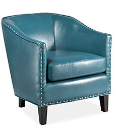 Lawson Faux Leather Accent Chair, Quick Ship