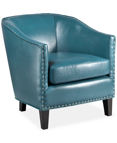 Josie Faux Leather Accent Chair Quick Ship Furniture