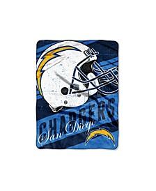 San Diego Chargers Micro Raschel Deep Slant Blanket