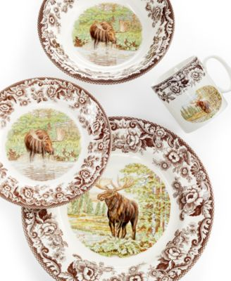 With a moose motif and a Victorian floral border the Spode Woodland Moose collection celebrates country living with vintage-inspired style.  sc 1 st  Macyu0027s & Spode Woodland Moose Collection - Dinnerware - Dining u0026 Entertaining ...