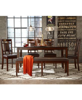 delran 7-piece dining room furniture set, created for macy's