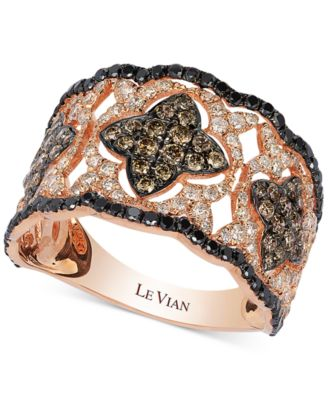 Le Vian Diamond VintageInspired Ring in 14k Rose Gold 113 ct