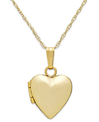 Childrens heart 13 locket necklace in 14k gold necklaces childrens heart 13 mozeypictures Image collections