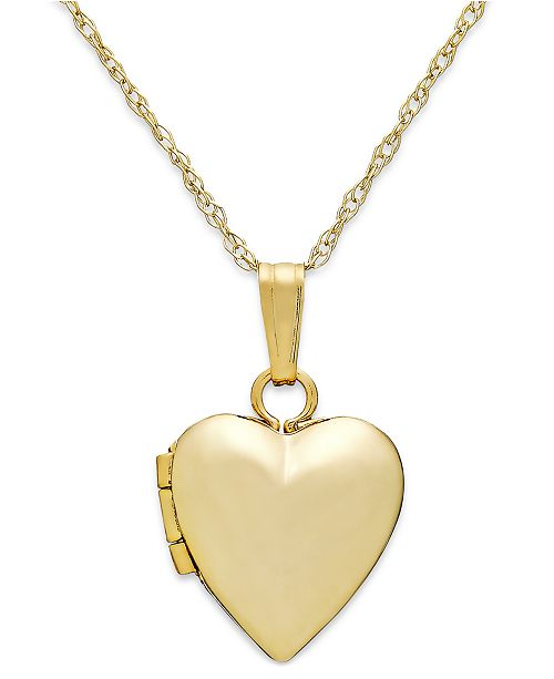macy s children s heart 13 locket necklace in 14k gold handbags