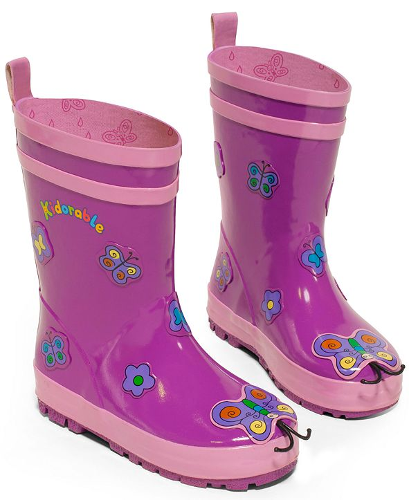 """Kidorable """"Butterfly"""" Rain Boots"""