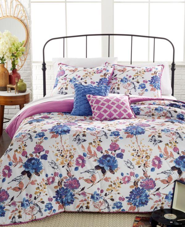 Fabel Floral 5-Pc. Full/Queen Comforter Set