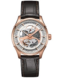 Hamilton Men's Swiss Automatic Jazzmaster Viewmatic Brown Leather Strap Watch 40mm H42545551