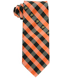 Eagles Wings Anaheim Ducks Checked Tie