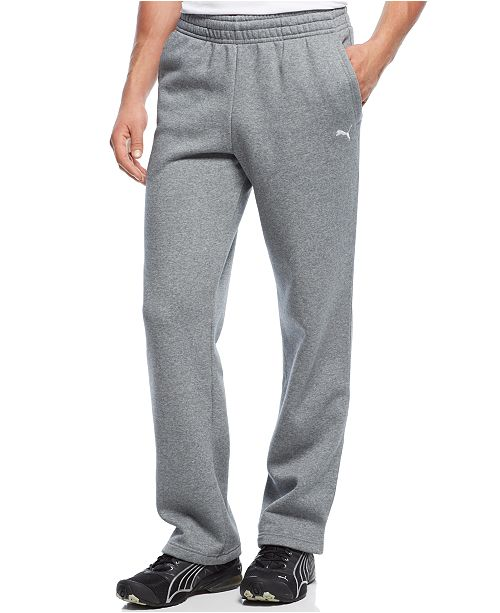3992d9439a82 Puma Men s Drawstring Fleece Sweatpants   Reviews - Pants - Men - Macy s