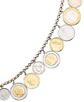 Vermeil Bracelet, Lira Coins Charm Bracelet