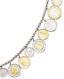 Vermeil Bracelet Lira Coins Charm