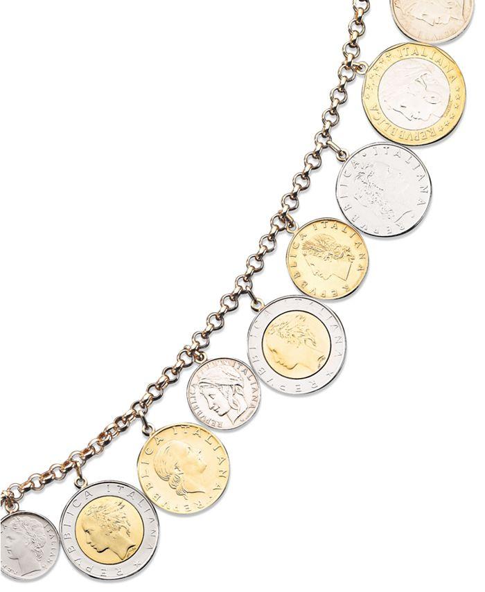 Macy's - Vermeil Bracelet, Lira Coins Charm Bracelet