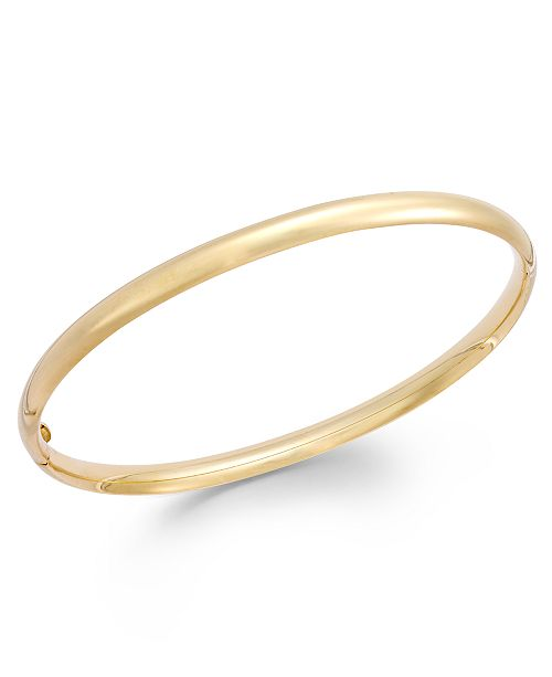 Italian Gold Stackable Bangle Bracelet in 14k Gold