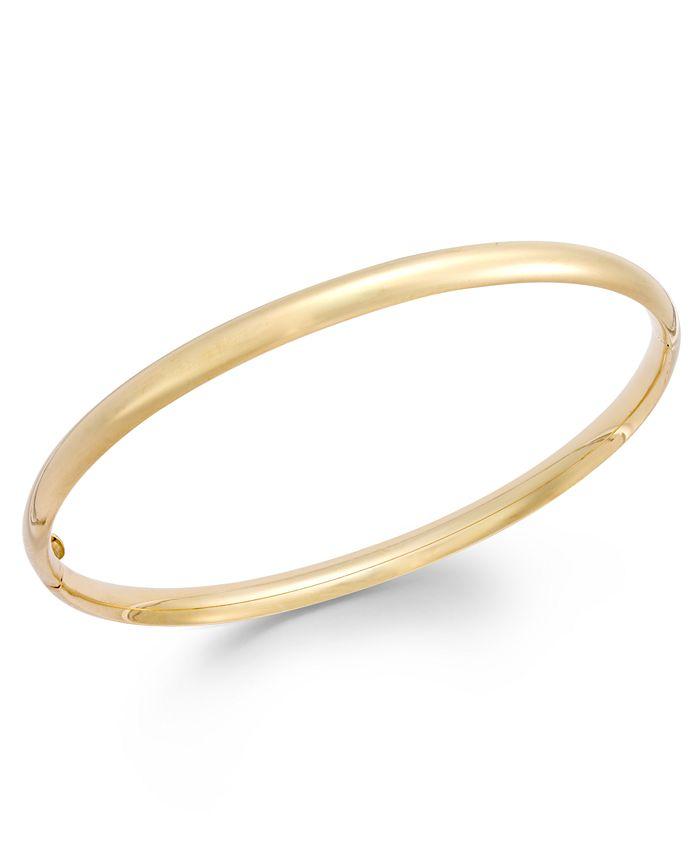 Italian Gold - Stackable Bangle Bracelet in 14k Gold
