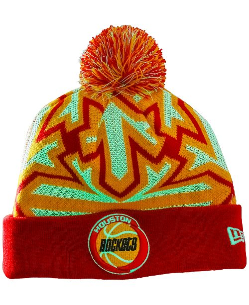 1bc7c01e201 New Era Houston Rockets Glowflake Pom Knit Hat   Reviews - Sports ...