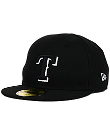 Texas Rangers MLB Youth My First Black/White 59FIFTY Cap