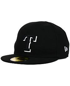 New Era Texas Rangers MLB Youth My First Black/White 59FIFTY Cap
